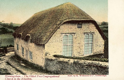 Horningsham, the Oldest Free Congregational Church in the Kingdom. Postcard, early 20th century.