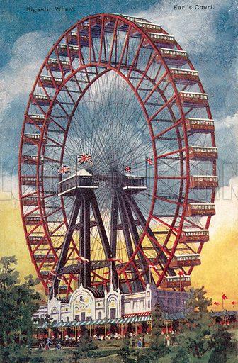 Gigantic Wheel, Earl's Court. Postcard, early 20th century.