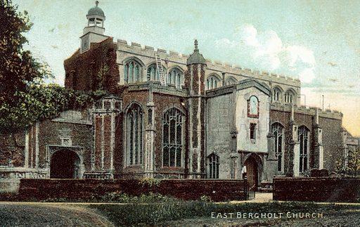 East Bergholt Church. Postcard, early 20th century.