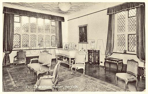 East Barsham Manor, Norfolk. Postcard, early 20th century.