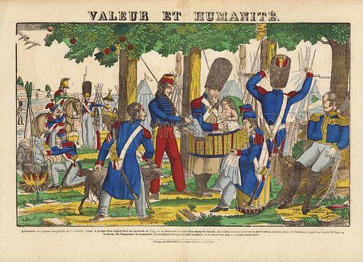 Valeur Et Humanite. Popular print illustration made by Pellerin at Epinal, France.