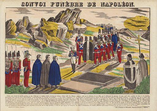 Convoi Funebre De Napoleon.  Popular print illustration made by Pellerin at Epinal, France.