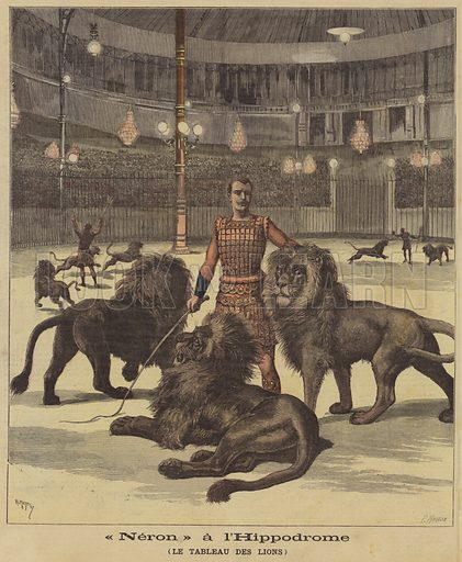 Nero, pantomime at the Hippodrome, Paris