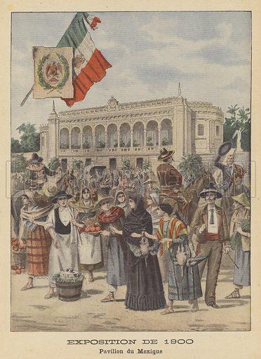 The Mexican Pavilion at the Exposition Universelle of 1900 in Paris. Exposition de 1900. Pavillon du Mexique. Illustration for Le Petit Journal, 2 September 1900.
