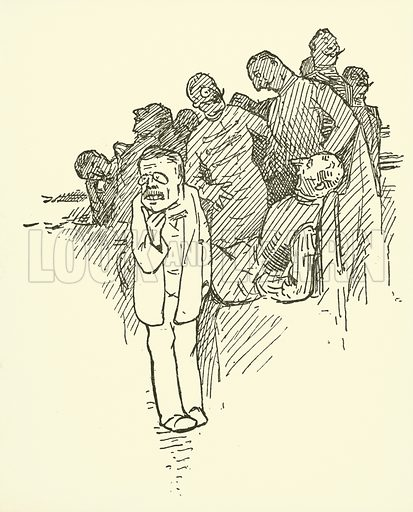 President Roosevelt. Illustration for Biography for Beginners edited by E Clerihew with diagrams by GK Chesterton (T Werner Laurie, c 1905).