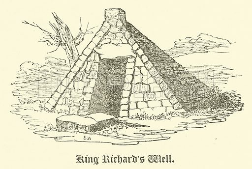 King Richard's Well. Illustration for The Every-Day Book and Table Book or Everlasting Calendar of Popular Amusements by William Hone (Thomas Tegg, 1838).