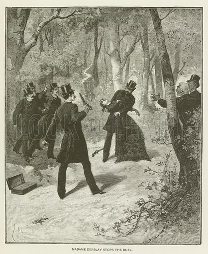 Madame Derblay stops the duel.