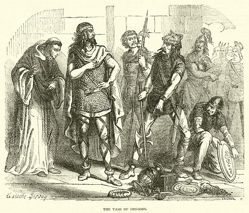 The Vase of Soissons. Illustration for Cassell's Illustrated Family Paper (1858).