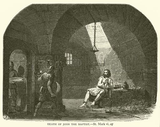 Death of John the Baptist, St Mark, vi, 27. Illustration for The Sunday Scrap Book (Cassell, c 1890).