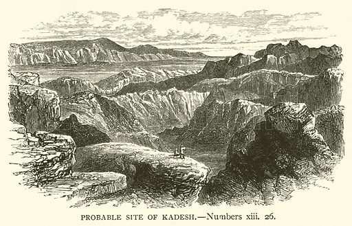 Probable Site of Kadesh, Numbers, xiii, 26. Illustration for The Sunday Scrap Book (Cassell, c 1890).