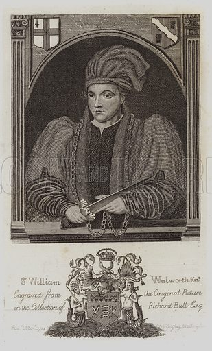 Sir William Walworth, Lord Mayor Of London. Illustration for The Antiquarian Repertory by Francis Grose and others (new edn, Edward Jeffery, 1807ff).