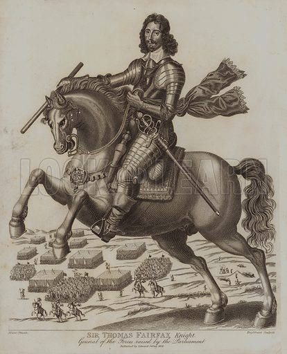 Sir Thomas Fairfax Knight, General of the Forces raised by the Parliament. Illustration for The Antiquarian Repertory by Francis Grose and others (new edn, Edward Jeffery, 1807ff).