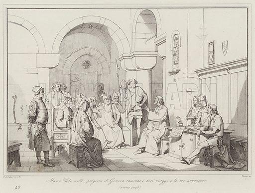 Marco Polo nelle prigioni di Genova racconta i suoi viaggi e le sue avventure, 1298