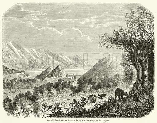 Vue de Gradina. Illustration for Le Tour Du Monde (Hachette, 1861 1H).