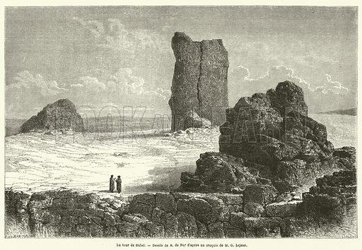 La tour de Babel. Illustration for Le Tour Du Monde (Hachette, 1867 2H).