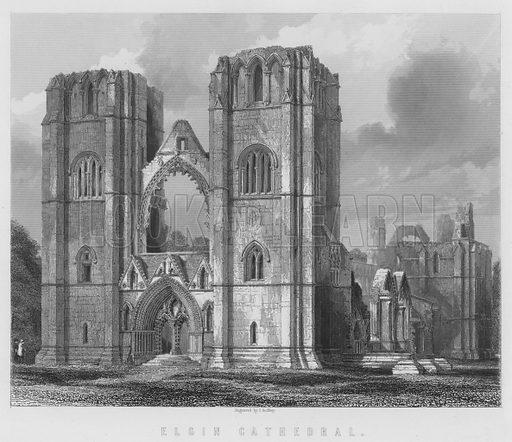 Elgin Cathedral. Illustration for Tytler