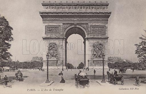 Paris, L'Arc De Triomphe.  Postcard, early 20th century.