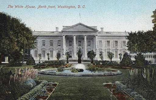 The White House, North Front, Washington DC. Postcard, early 20th century.