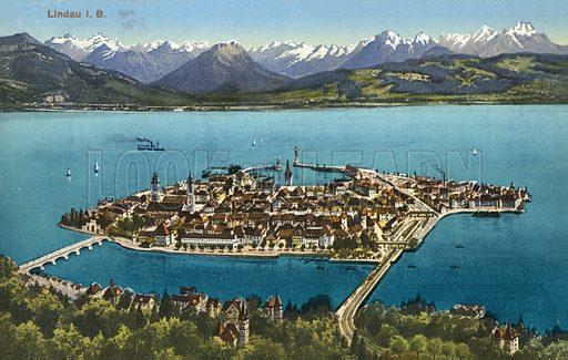 Lindau.  Postcard, early 20th century.