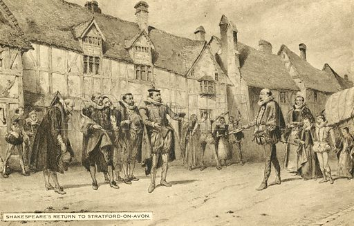 Shakespeare's return to Stratford On Avon