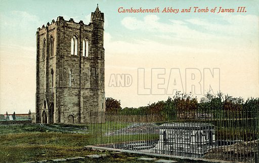 Cambuskenneth Abbey, Tomb, King James III Of Scotland. Postcard, early 20th century.