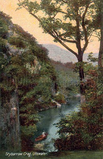 Skybarrow Crag, Ullswater. Postcard, early 20th century.