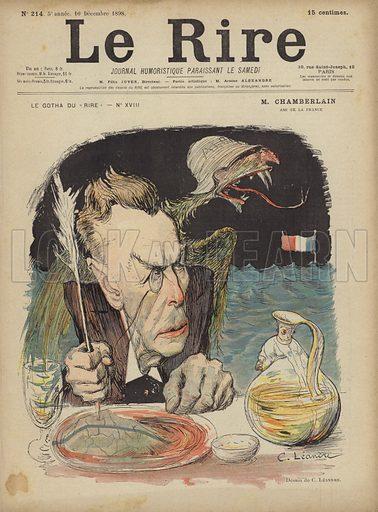 Joseph Chamberlain, Illustration for Le Rire