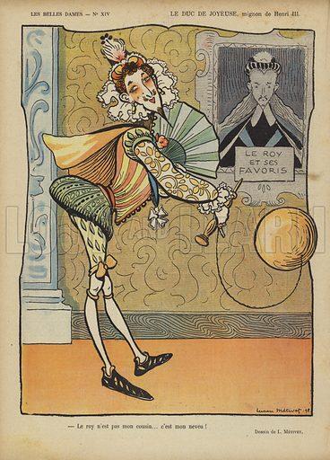 Le Duc De Joyeuse, Illustration for Le Rire