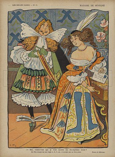 Madame De Sevigne, Illustration for Le Rire