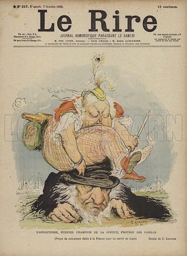 Queen Victoria, Illustration for Le Rire