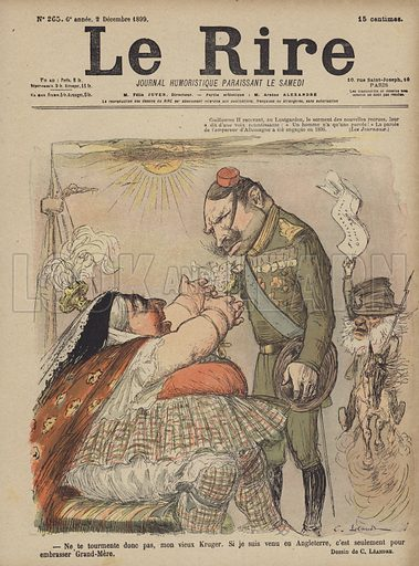 Kaiser Wilhelm II and Queen Victoria, Illustration for Le Rire