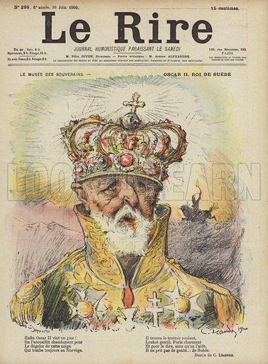 Oscar II, King of Sweden, Illustration for Le Rire