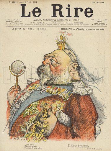 King Edward VII of England, Illustration for Le Rire