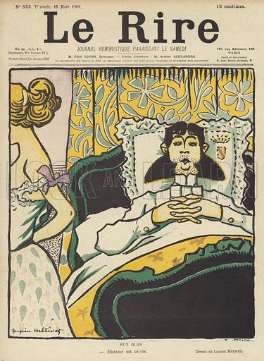 Ruy Blas, Illustration for Le Rire