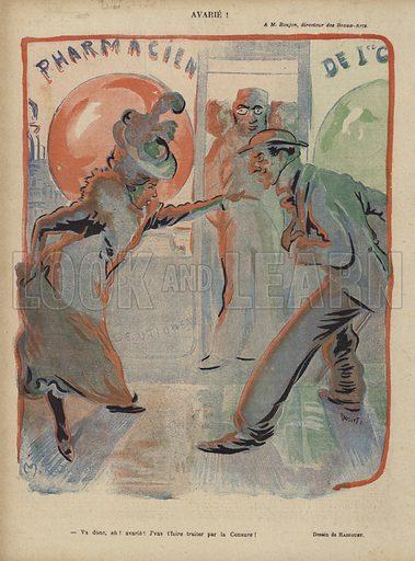 Illustration for Le Rire, 23 November 1901.