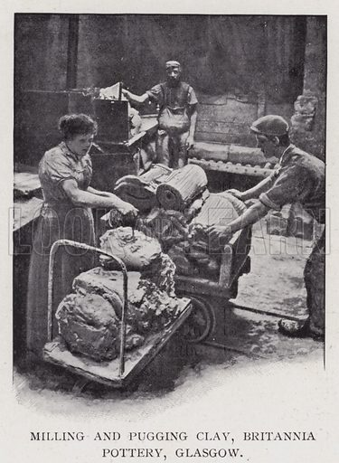 Milling And Pugging Clay Britannia Pottery Glasgow Look And