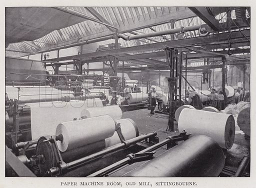 Paper Machine Room, Old Mill, Sittingbourne. Illustration for Britain At Work, A Pictorial Description Of Our National Industries (Cassell, 1902).
