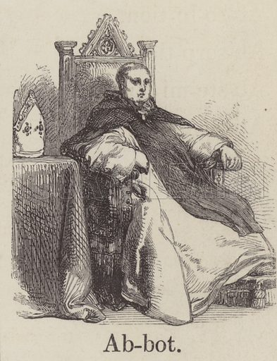 Abbot. Illustration for An Illustrated Vocabulary For The Use Of The Deaf And Dumb (SPCK, 1857).