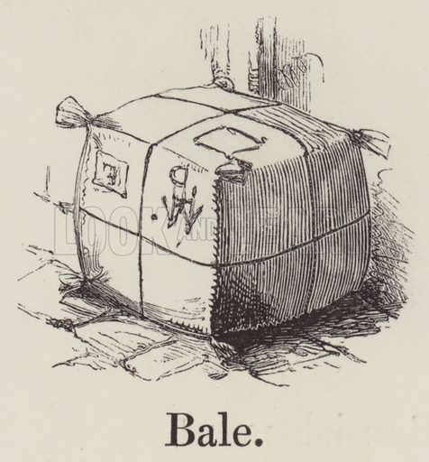 Bale. Illustration for An Illustrated Vocabulary For The Use Of The Deaf And Dumb (SPCK, 1857).