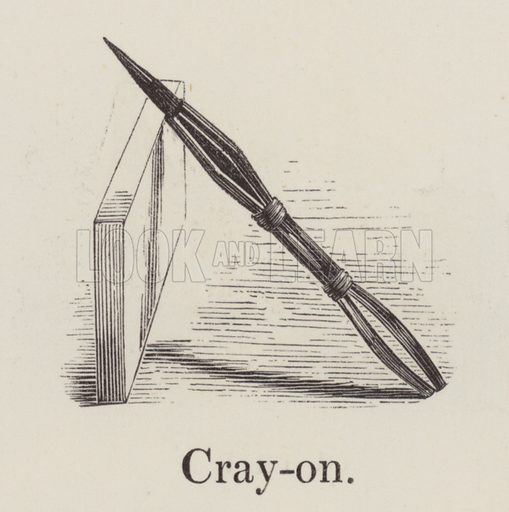 Crayon. Illustration for An Illustrated Vocabulary For The Use Of The Deaf And Dumb (SPCK, 1857).