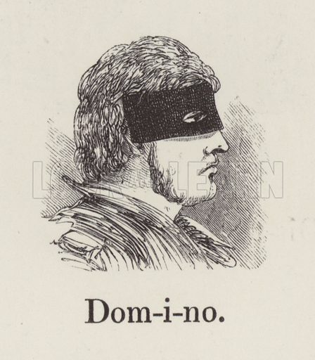 Domino. Illustration for An Illustrated Vocabulary For The Use Of The Deaf And Dumb (SPCK, 1857).