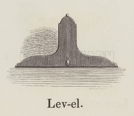 Level. Illustration for An Illustrated Vocabulary For The Use Of The Deaf And Dumb (SPCK, 1857).