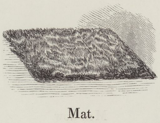 Mat. Illustration for An Illustrated Vocabulary For The Use Of The Deaf And Dumb (SPCK, 1857).