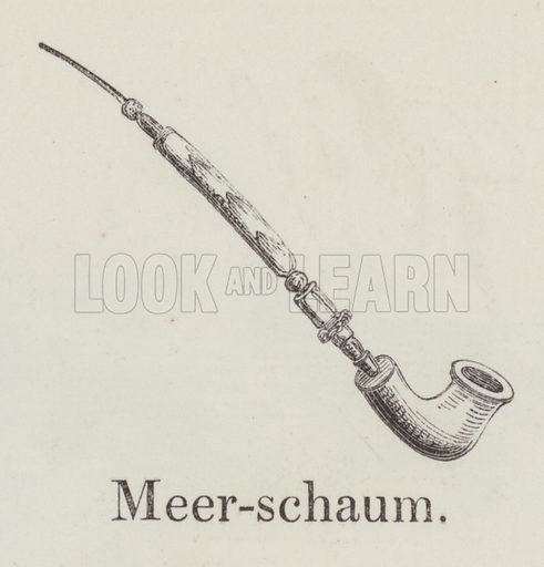 Meerschaum. Illustration for An Illustrated Vocabulary For The Use Of The Deaf And Dumb (SPCK, 1857).