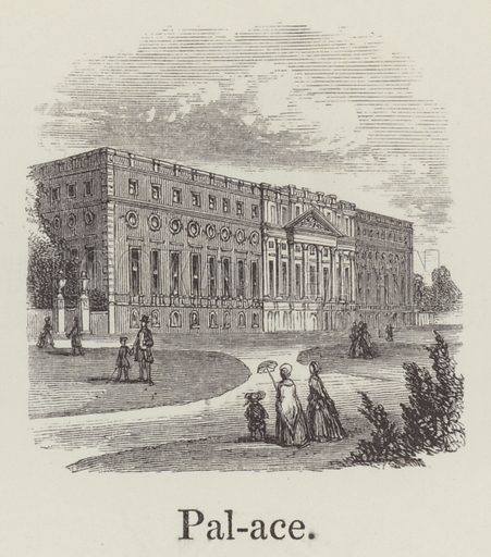 Palace. Illustration for An Illustrated Vocabulary For The Use Of The Deaf And Dumb (SPCK, 1857).