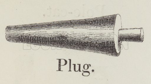 Plug. Illustration for An Illustrated Vocabulary For The Use Of The Deaf And Dumb (SPCK, 1857).