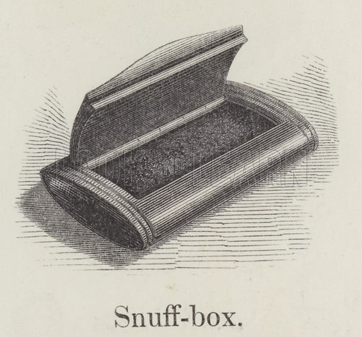 Snuffbox. Illustration for An Illustrated Vocabulary For The Use Of The Deaf And Dumb (SPCK, 1857).