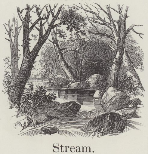 Stream. Illustration for An Illustrated Vocabulary For The Use Of The Deaf And Dumb (SPCK, 1857).