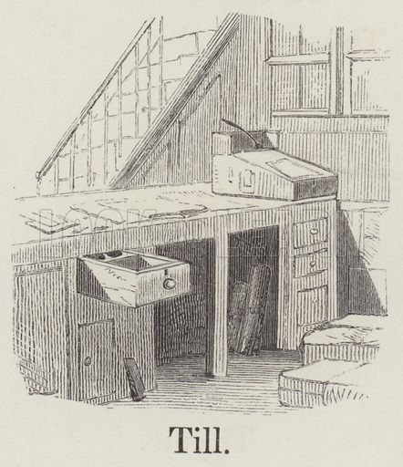 Till. Illustration for An Illustrated Vocabulary For The Use Of The Deaf And Dumb (SPCK, 1857).