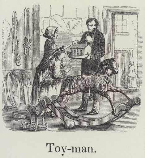 Toyman. Illustration for An Illustrated Vocabulary For The Use Of The Deaf And Dumb (SPCK, 1857).